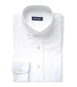 Einfarbige Weiß Oxford
