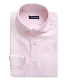 Plain pastel pink Oxford