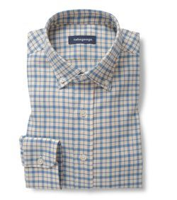 Checked blue Oxford