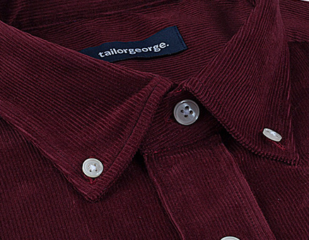 Chemises en velours écossais