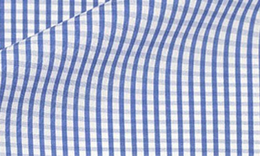 Checked bright blue Poplin