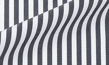 Striped black Poplin