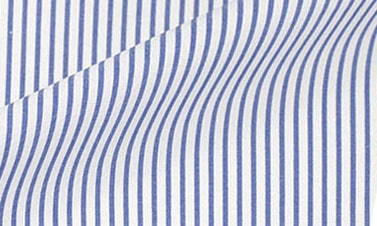 Striped bright blue Poplin