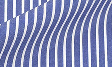 Striped royal blue Poplin