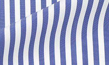 Striped royal blue Poplin