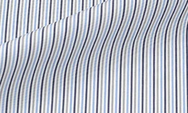 Striped Gray Poplin