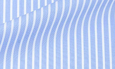 Striped light blue Poplin