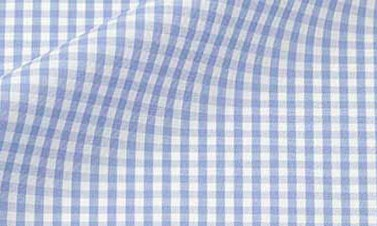 Checked light blue Poplin