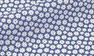 Prints marineblauw Popeline