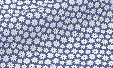 Bedruckte Marineblau Popeline