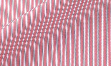 Striped vermilion Poplin