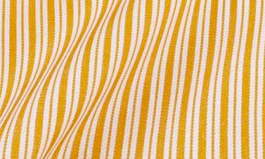 Striped orange Poplin