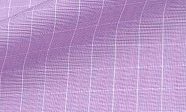 Checked purple Poplin