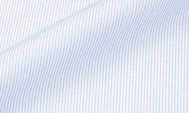 Striped sky blue Poplin