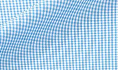 Checked turquoise blue Poplin