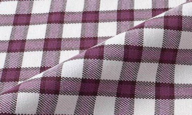 Checked purple Oxford