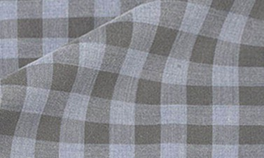 Flanelle à carreaux gris anthracite