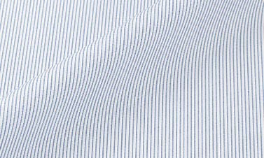 Striped blue Poplin
