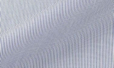 Striped navy blue Poplin