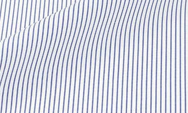 Striped denim blue Poplin