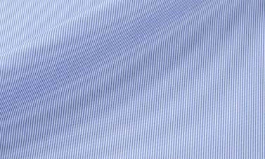 Striped azure blue Poplin