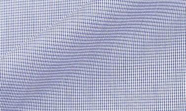 Popeline a quadri blu marine