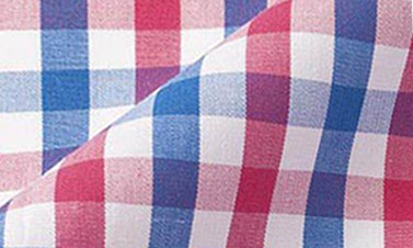 Checked candy pink Poplin