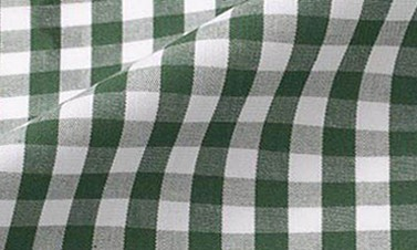 Checked forest green Poplin