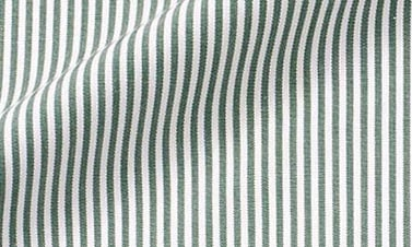 Striped British racing green Poplin