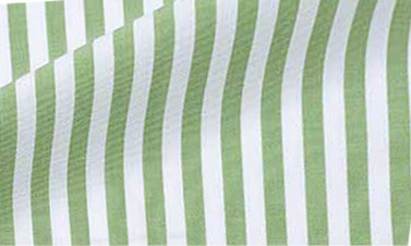 Striped olive green Poplin