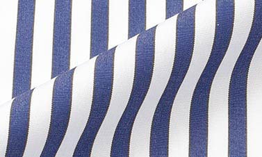 Striped deep blue Poplin