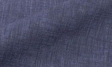 Plain indigo blue Linen