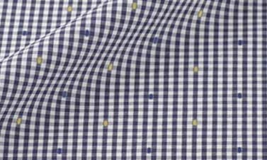 Checked midnight blue Poplin