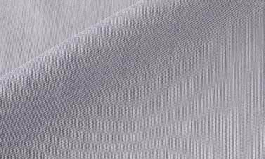 Popelina de rayas azul
