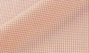 Checked orange Poplin