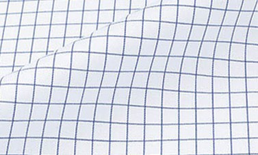 Twill a quadri blu marine - Stiro facile