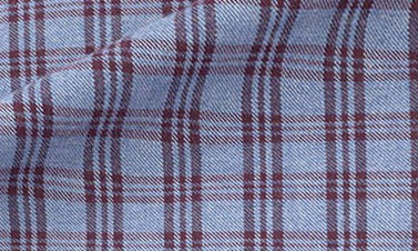 Checked bordeaux Flannel