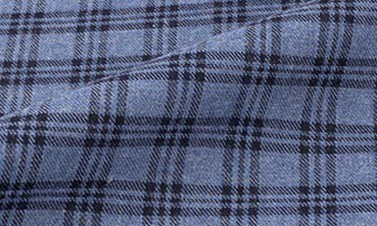 Checked mineral blue Flannel