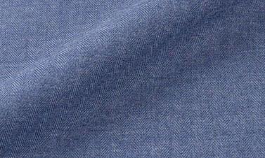 Flanelle uni bleu turquin