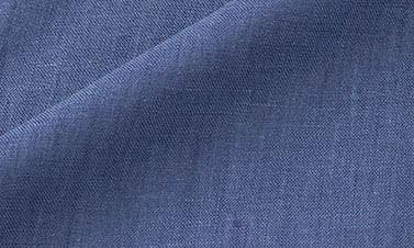 Lino liso azul de Nîmes