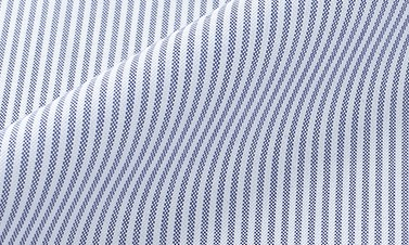Striped sky blue Oxford