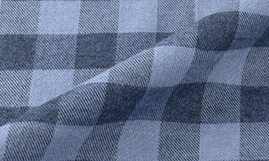 Checked slate blue Flannel