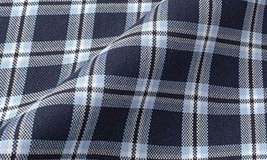 Plaid Marineblau Oxford