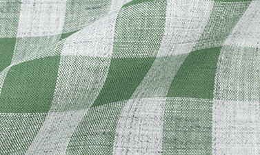 Checked almond green Linen